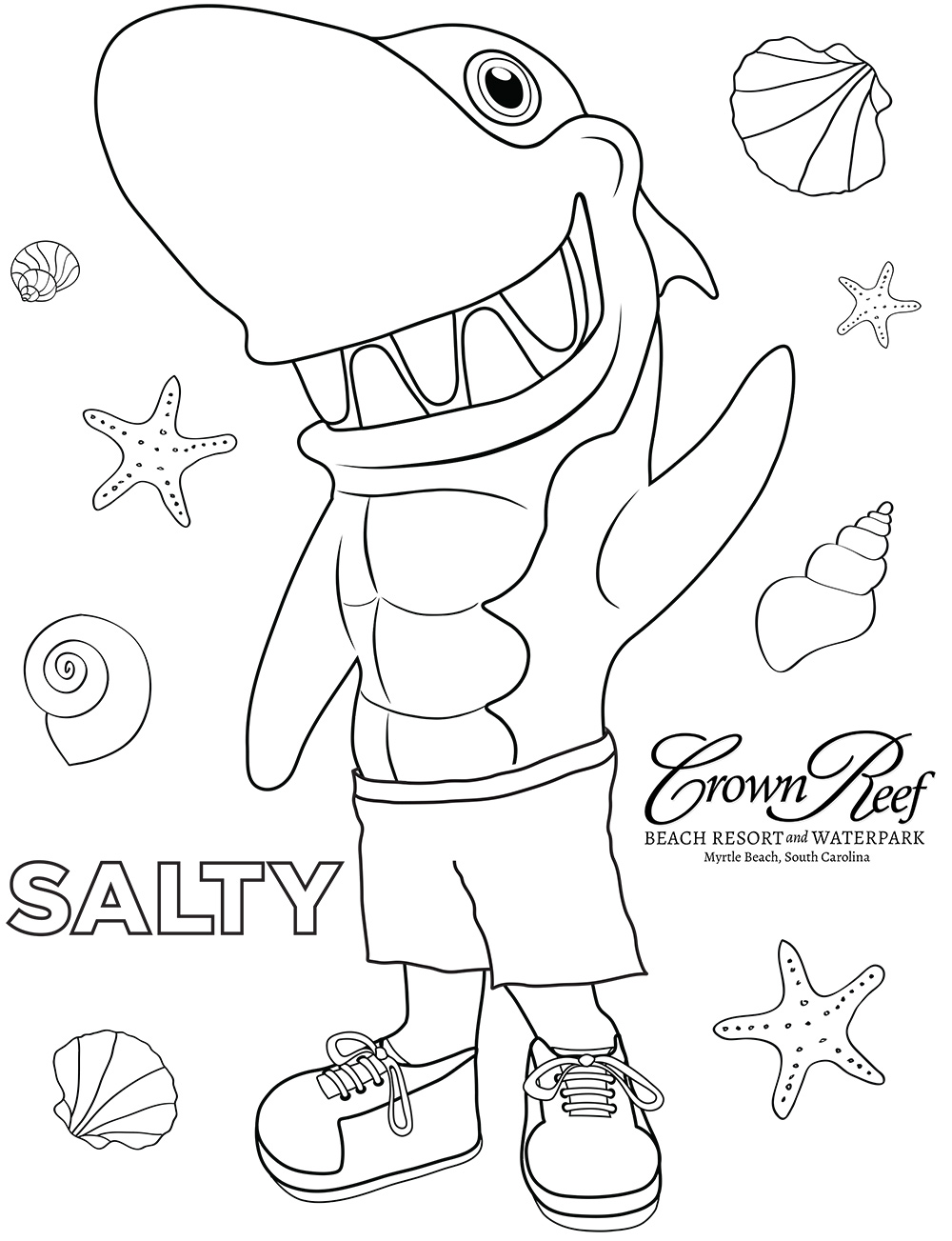Salty Coloring Page